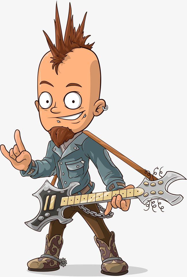 Cartoon Rocker Music Vector Cartoon Rocking Musician Png Transparent Clipart Image And Psd File For Free Download Cartoon Cartoon Animals Character Design