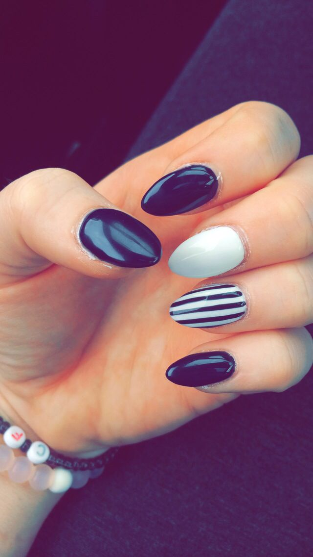 My new beetlejuice nails                                                                                                                                                                                 More