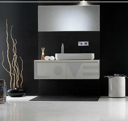 33 dunkle Badezimmer Design Ideen - modern bathroom minimalistic - ideen für badezimmer