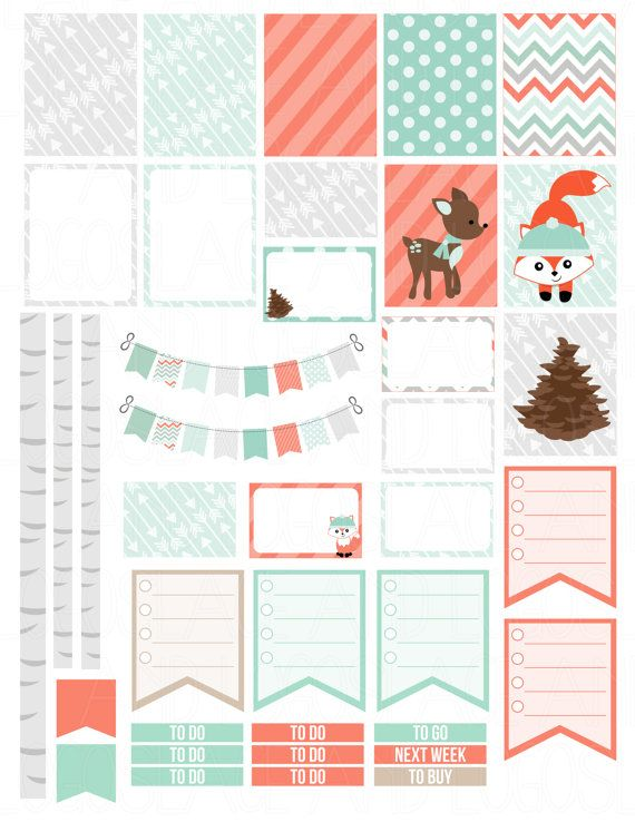 This is a set of printable stickers. The stickers are perfect for any planner like the Erin Condren Life Planner, Kikki K, MAMBI Happy Planner, Filofax, ETC. This will be available as a PDF file and a JPEG version for you to print out at home onto a blank self-adhesive shipping label to make your own stickers. Printable stickers means that you can download these files, buy some self-adhesive sticker paper (white or clear shipping labels or sticker paper) and print the stickers off as many…
