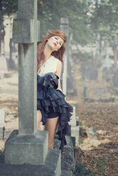 cemetary photoshoot ideas for women - Google Search