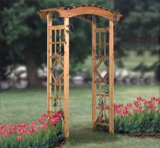 Garden Arbor Wood Project Plan This stylish Garden…