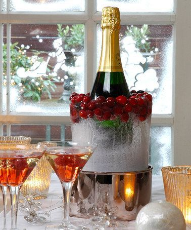 Cute ice bucket idea for holiday parties