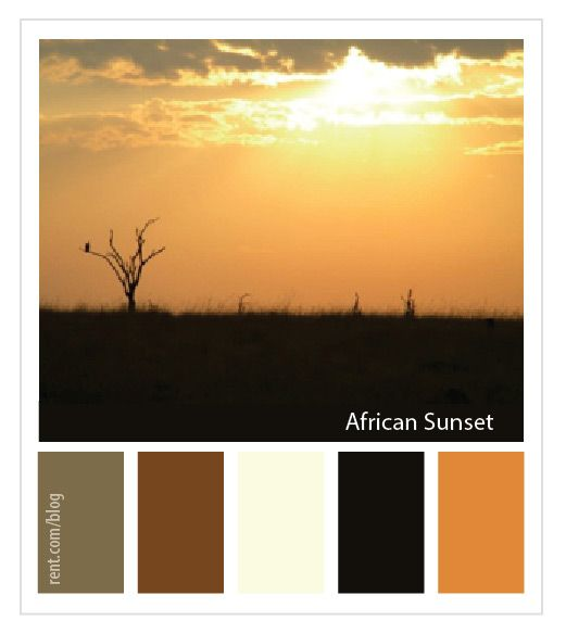 Destination Inspiration Color Palette: African Sunset [Rent.com Blog]
