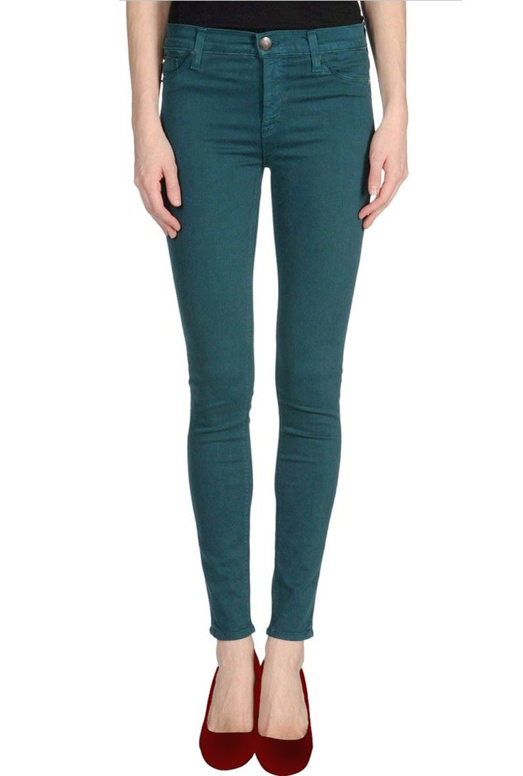 Best 20+ Teal skinny jeans ideas on Pinterest | Teal pants outfit ...