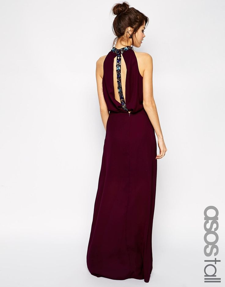 ASOS+TALL+Exclusive+Jewel+Back+Maxi+Dress