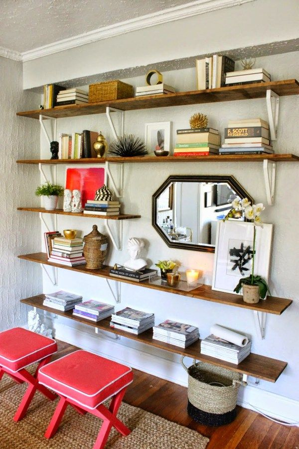 How To: DIY Ikea Hacked Shelving Unit - Shannon Claire - http://www.burlapandlaceblog.com/how-to-diy-ikea-hacked-shelving-uni/