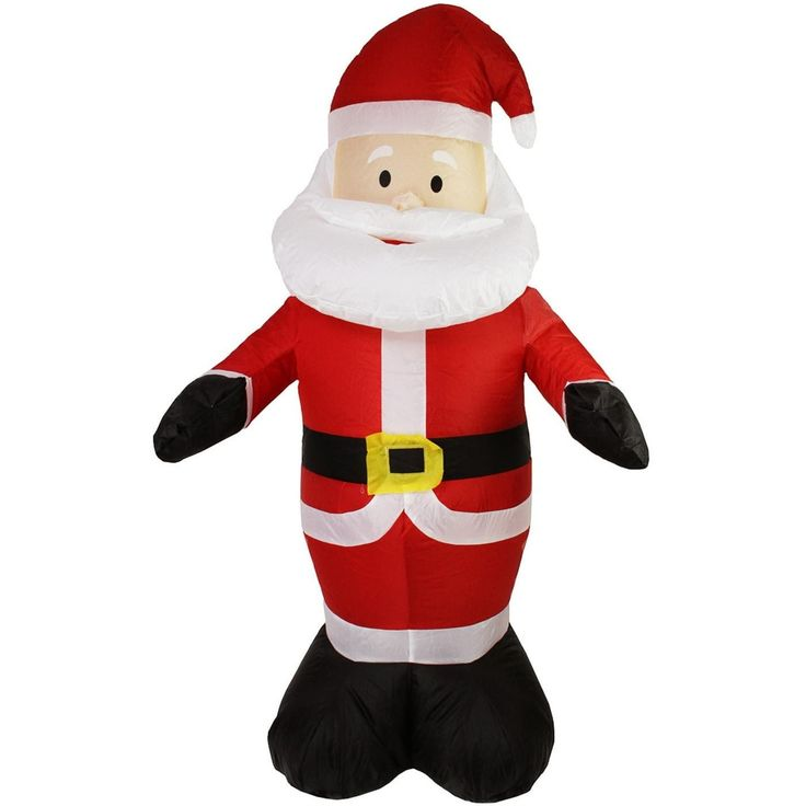 LB International 4' Inflatable Lighted Santa Claus Christmas Yard Art Decoration 31729930