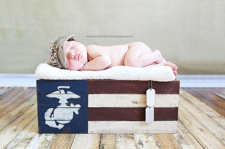 newborn photography  usmc baby marine corps baby http://www.rachelsmithphotography.net