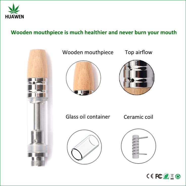 Newest undetachable CBD oil cartridge wooden mouthpiece glass ceramic 0.5ml disposable cbd oil vape cartridge