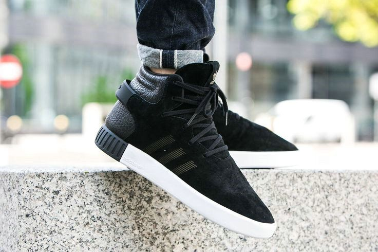 sports shoes 5cb97 1496d Really Cheap Adidas Tubular Invader Strap 750 Black Vintage White On Feet  S80241