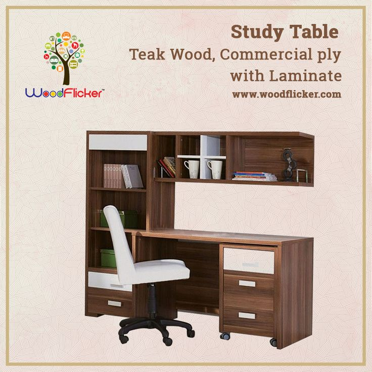 Buy study tables online in India at low price from Woodflicker. Select from wide range of wooden study tables. Shop Now : www.woodflicker.com #woodflicker #onlinewoodenfurniture #furnitureindelhi