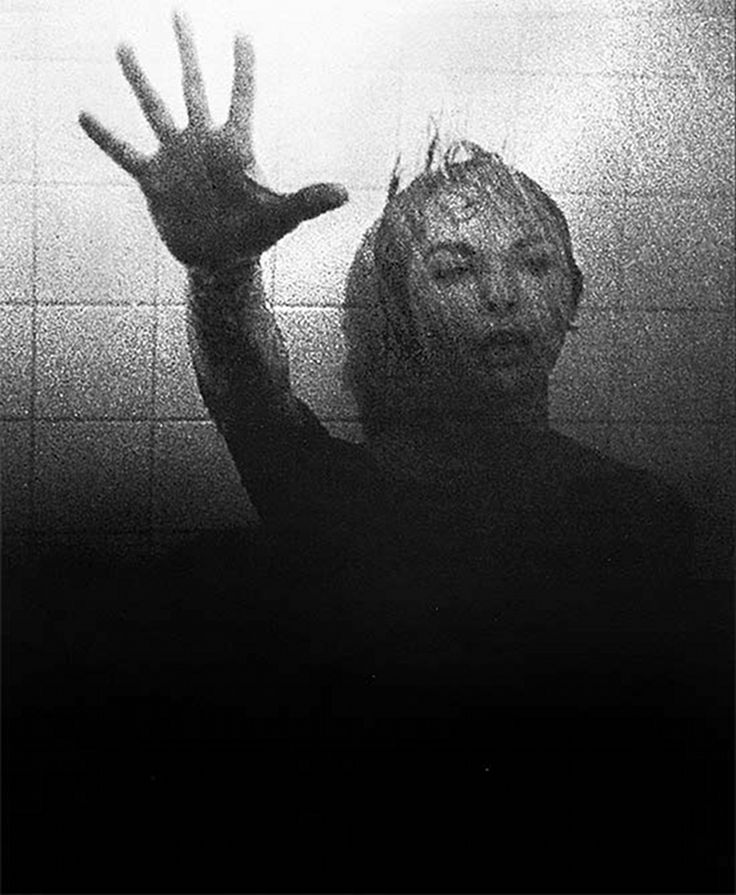 """""""Psycho"""" shower scene: Saul Bass, Alfred Hitchcock, Janet Leigh"""