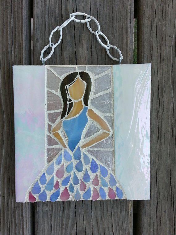 Raindrop dress mosaic