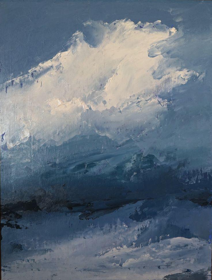 <em>Cloud Series #2</em>, 2016</br>Matilda Dumas</br>Oil on Board</br>61 x 46 cm</br>$750