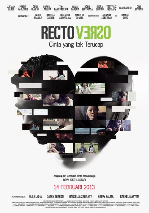 Official poster film RECTOVERSO, film spesial di Hari Kasih Sayang (Valentine's Day).  Rilis 14 Februari 2013 di bioskop-bioskop seluruh Indonesia.