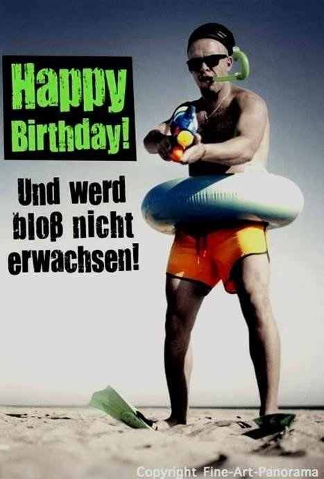 Lustige Geburtstagsbilder Für Männer Glückwunsch Pinterest