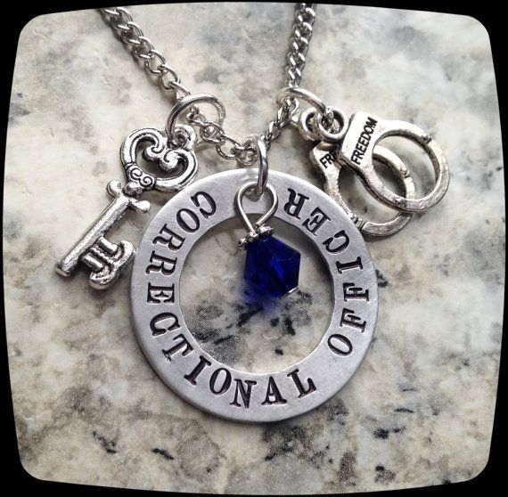 Correctional Officer Jewelry, Guard, Corrections, Police Officer, Law Enforcement, Protect, Necklace, Gift