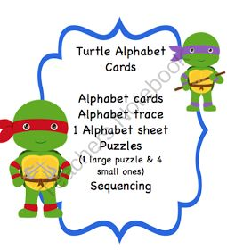 Ninja Turtle Printable Alphabet