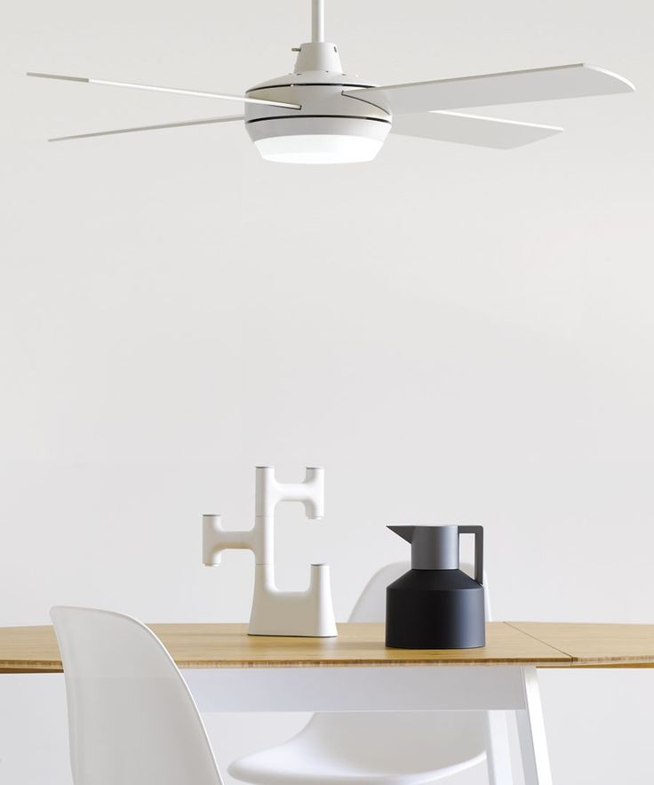 Altitude Eco 122cm Fan with LED Light in White