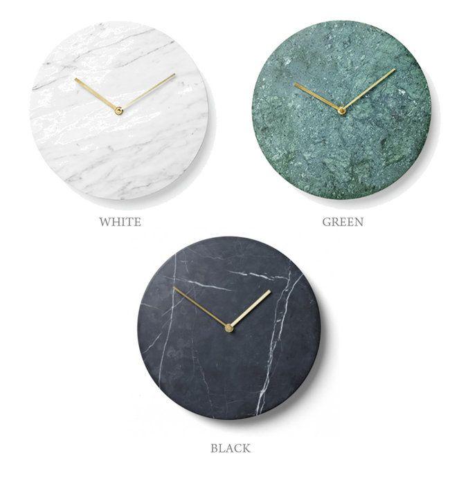 簡潔な線のみでデザインされたノスタルジックな壁時計。Marble Wall Clock マーブルウォールクロックmenu メニュー NORM ノーム壁掛け時計/ウォッチ/大理石/北欧【コンビニ受取対応商品】【RCP】