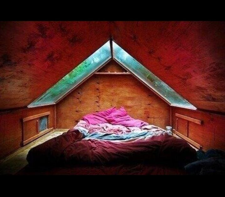 101 Loft/Attic Conversion Ideas Because a simple loft ladder could lead to something amazing! http://www.ladders-online.com/uk/loft-ladders.html // Number: 6  Idea Type: Bedroom / spare Bedroom Idea Details: Attic Bedroom with a glass section roof Idea Difficulty: High #loftconversion#atticconversion #diy