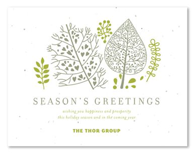 43 best holiday business cards images on pinterest visit cards artistic green plantable corporate holiday cardsbusiness reheart Image collections