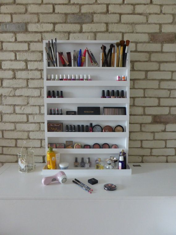 Εxtra grande trucco organizzatore - maquillage di smalto cremagliera - attaccatura di parete - disponibile in vari colori - mobili per bagno - portaccessori