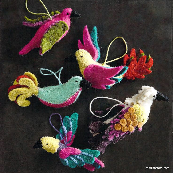 Roost Bird Of Paradise Ornaments   Set Of 10
