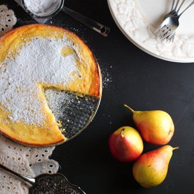 Pear Clafouti by The Professional Palate #glutenfree #grainfree