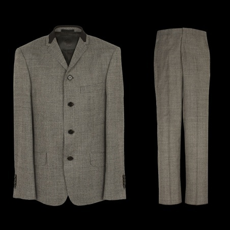 Pretty Green Dogtooth Four-button Wool Tailored Suit