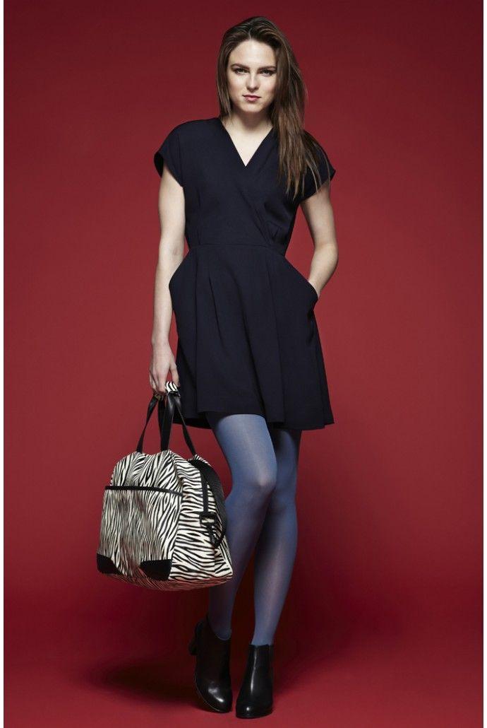Louche Zola Wrap Front Dress - Dresses - Clothing - Womenswear