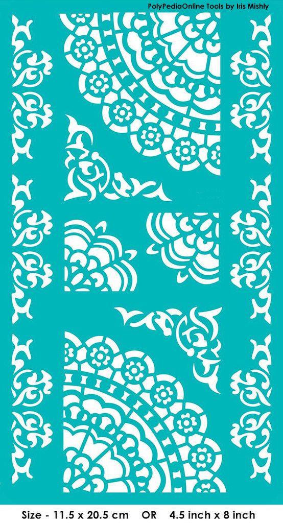 Stencil plantillas Mandala patrón plantilla adhesivo