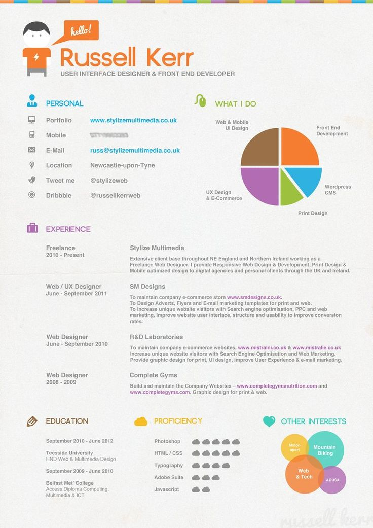 26 best Great infographic resumes images on Pinterest Resume - graphic designer resumes samples