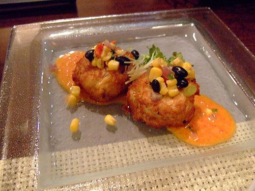 47 best fish seafood cakes images on pinterest seafood for Crab topping for fish