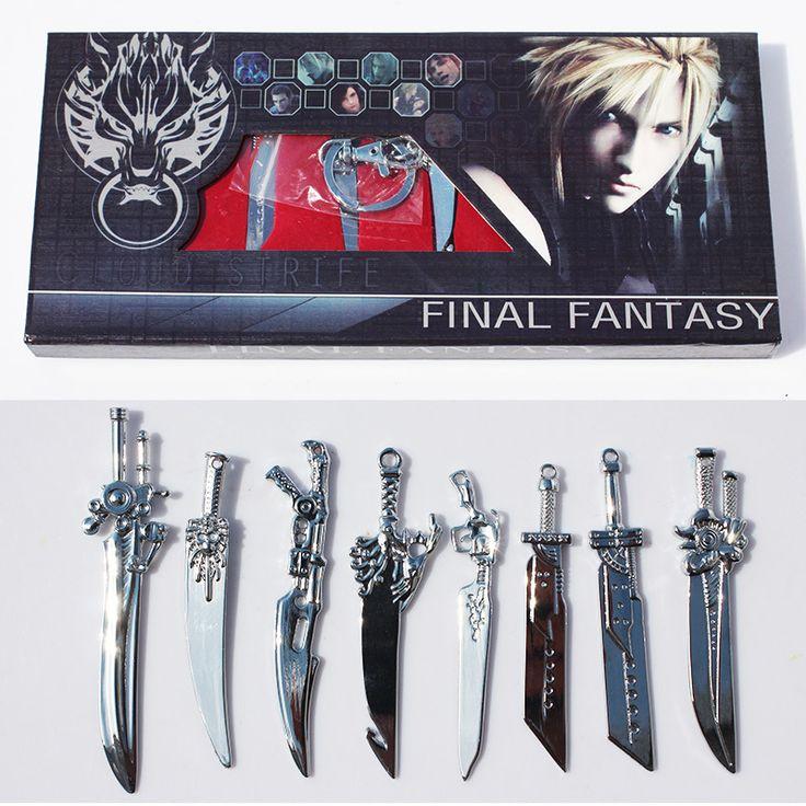 8 шт./компл. аниме последняя фантазия меч оружия игрушек с коробкой 8 ~ 9 см большой подарок