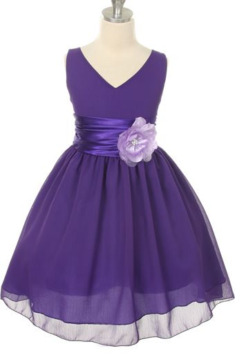 Flower Girl - not sure if the purple would match, but this is super adorable!