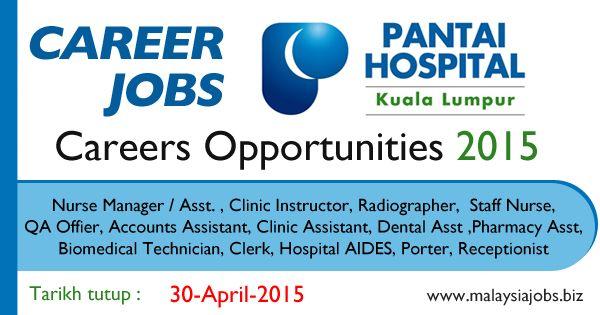 Pantai Hospital Kuala Lumpur Jobs April 2015