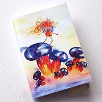 Színes gombákon táncoló tündér füzet #festészet #design #illusztráció