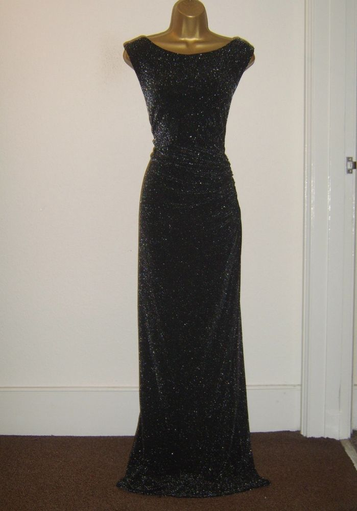 Wallis Fab Black Silver Lurex Sparkly Evening Party Occasion Maxi Dress Size 16 Occasion Maxi Dresses Size 12 Maxi Dress Maxi Dress Size 16