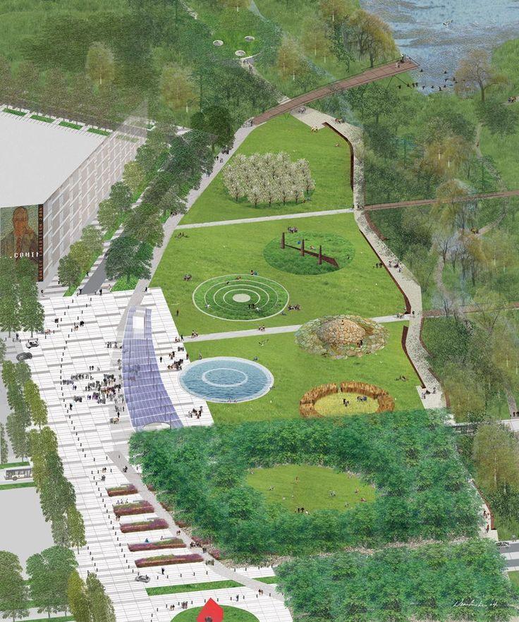 Markham centre park civic mall janet rosenberg and for Garden design proposal