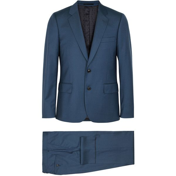 Paul Smith Soho Fused Teal Wool Suit - Size 42 (1,018,250 KRW) ❤ liked on Polyvore featuring men's fashion, men's clothing, men's suits, mens 3 button suits, merino wool mens clothing, paul smith mens clothing, mens wool suits and paul smith mens suits
