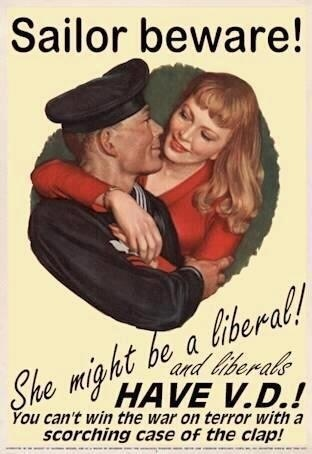 ... and liberals HAVE V.D.