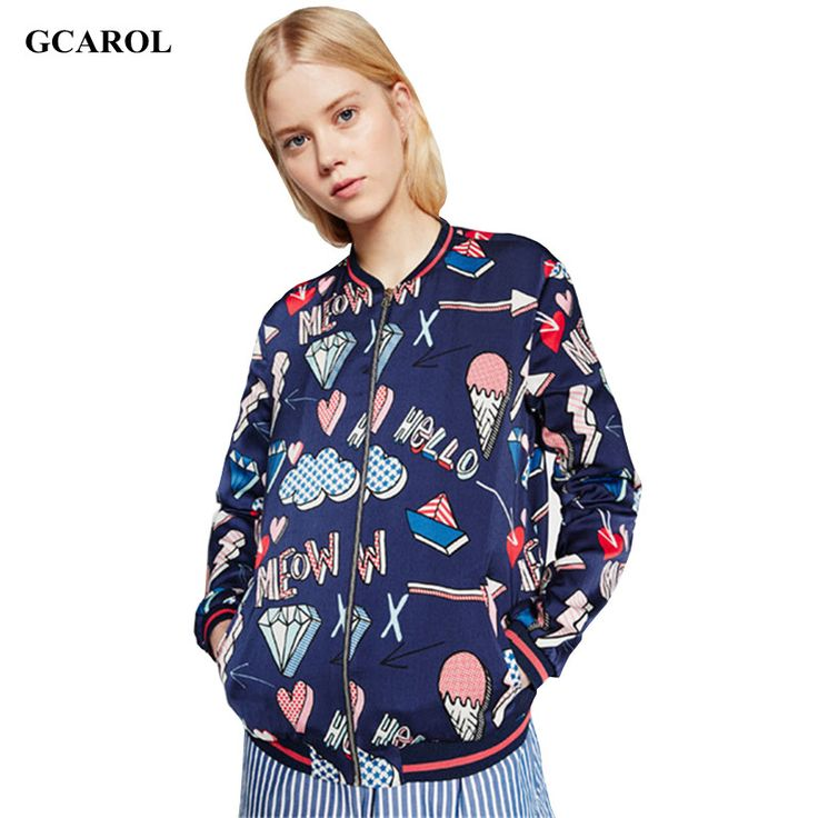 Women New Arrival Cartoon Letter Printed Jacket Girls Cute Street Wear Coat High Quality Thin Spring Autumn Outfits