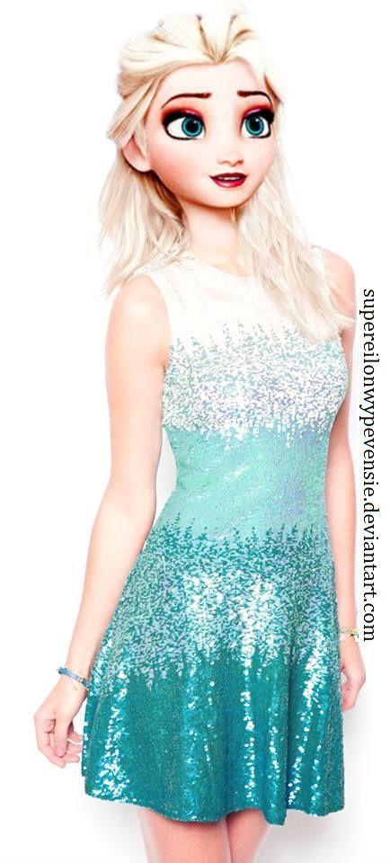 J'adore la robe que la reine des neiges