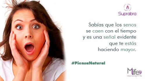 Si te van pasando los añitos, ten en cuenta que esto le puede ocurrir a tu cuerpo.  #Senos #PiensaNatural #tip #Pechos www.suprabra.com