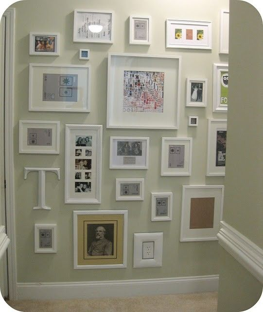 LOVE this Gallery wall tutorial