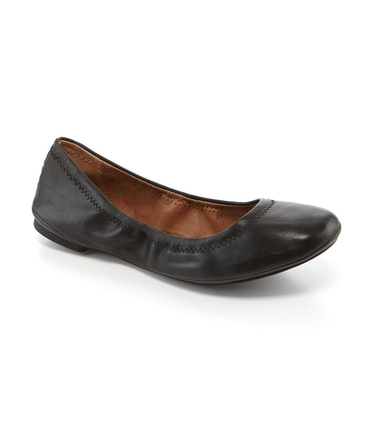 Black Leather:Lucky Brand Emmie Ballet Flats
