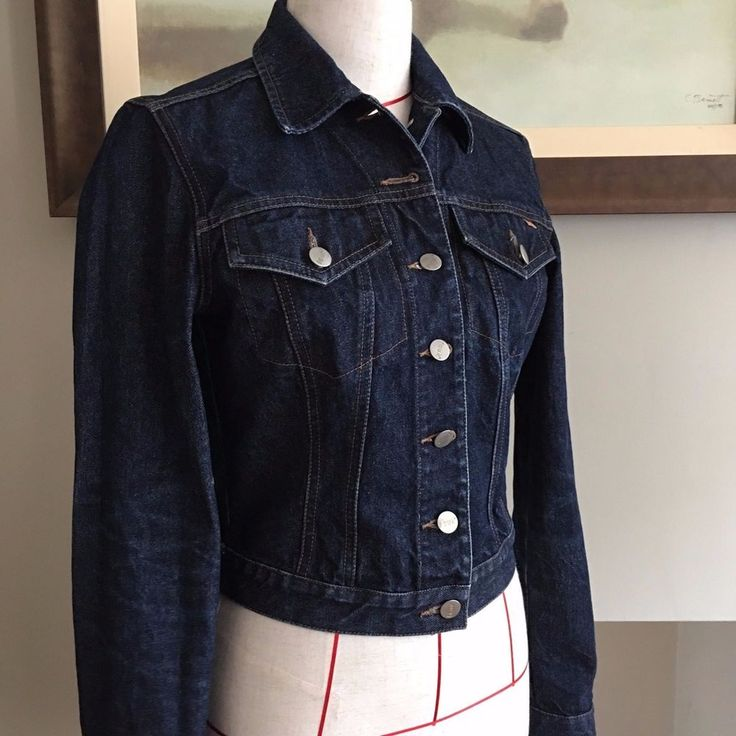 UK SIZE SMALL 8 10 WOMENS FRENCH CONNECTION CLASSIC DARK DENIM JACKET #FrenchConnection #FittedDenimJacket #Casual