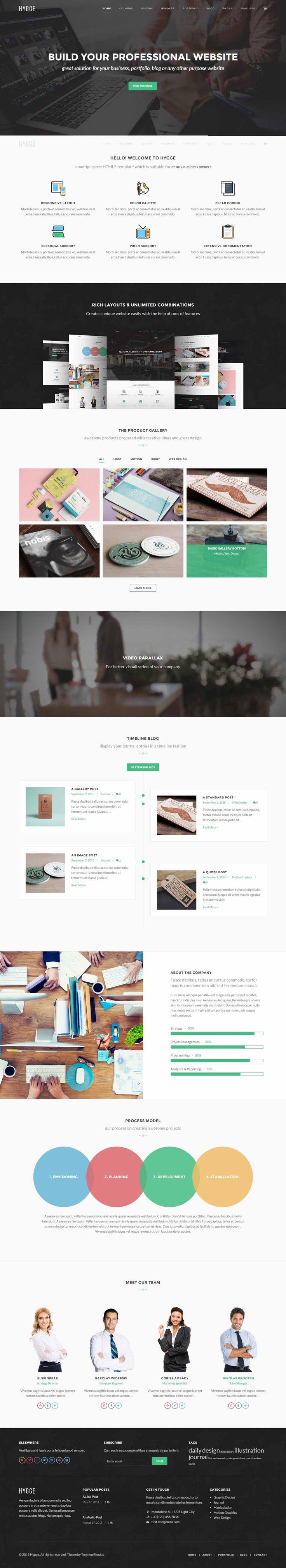 Hygge – Flat and Responsive WordPress Theme